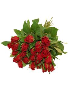 Blumenstrauß mit Rosen   in rot, Ø 35 cm