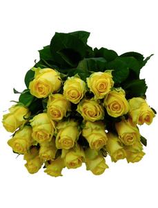 Blumenstrauß mit Rosen  in gelb, Ø 35 cm
