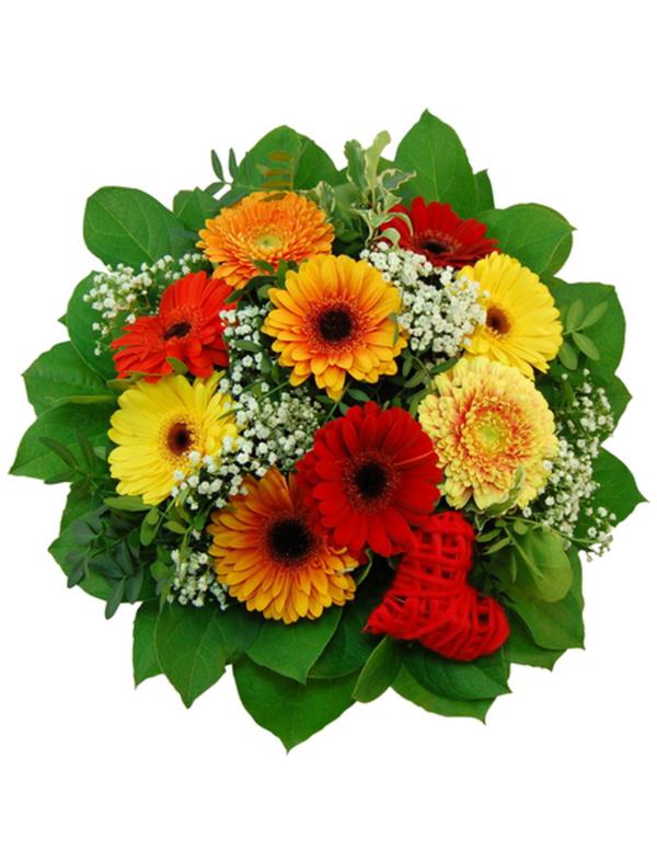 Blumenstrauß mit Gerbera, Ø 32–35 cm