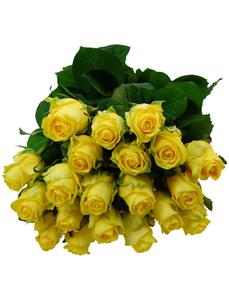 Blumenstrauß mit Rosen in gelb, Ø 33 cm