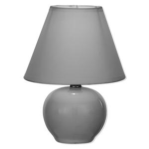 Tischleuchte - grau - Keramik - Ø 20 cm