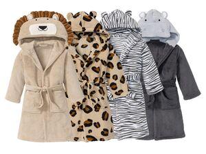 MIOMARE® Bademantel Kinder, Tier-Design, mit Bindegürtel, 2 aufgesetzte Taschen