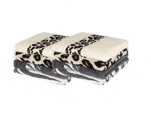 MIOMARE® Frottier-Handtücher, 2 Stück, 50 x 100 cm, aus reiner Baumwolle