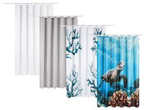 MIOMARE® Duschvorhang, 180 x 200 cm, 12 Ösen und Befestigungsringen, pflegeleichtes Textil