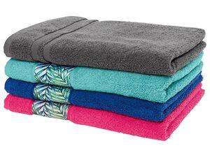 MIOMARE® Handtücher, 2 Stück, aus Frottier, reine Baumwolle, pflegeleicht, saugfähig