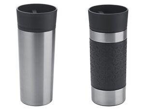 ERNESTO® Thermobecher, mit 360-Grad-Trinkfunktion, aus doppelwandigem Edelstahl