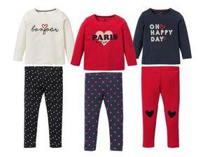 LUPILU®  Kleinkinder Pyjama Mädchen, mit Print, aus Baumwolle und Elasthan