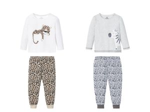 LUPILU® Pyjama Mädchen, mit Motiv, aus reiner Baumwolle