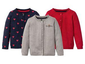 LUPILU®  Kleinkinder Cardigan Mädchen, aus Baumwolle und Viskose, Print oder Glitzerdruck