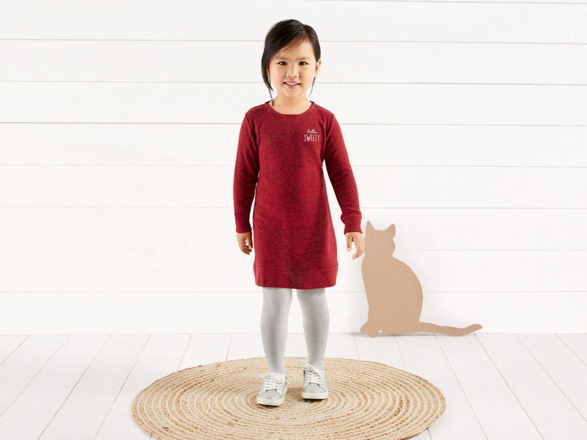 Bild 3 von LUPILU®  Kleinkinder Kleid Mädchen, mit Rückenknöpfung, mit Viskose