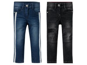 LUPILU®  Kleinkinder Jeans Mädchen, schmaler Schnitt, mit Glitzerstreifen oder Pailletten