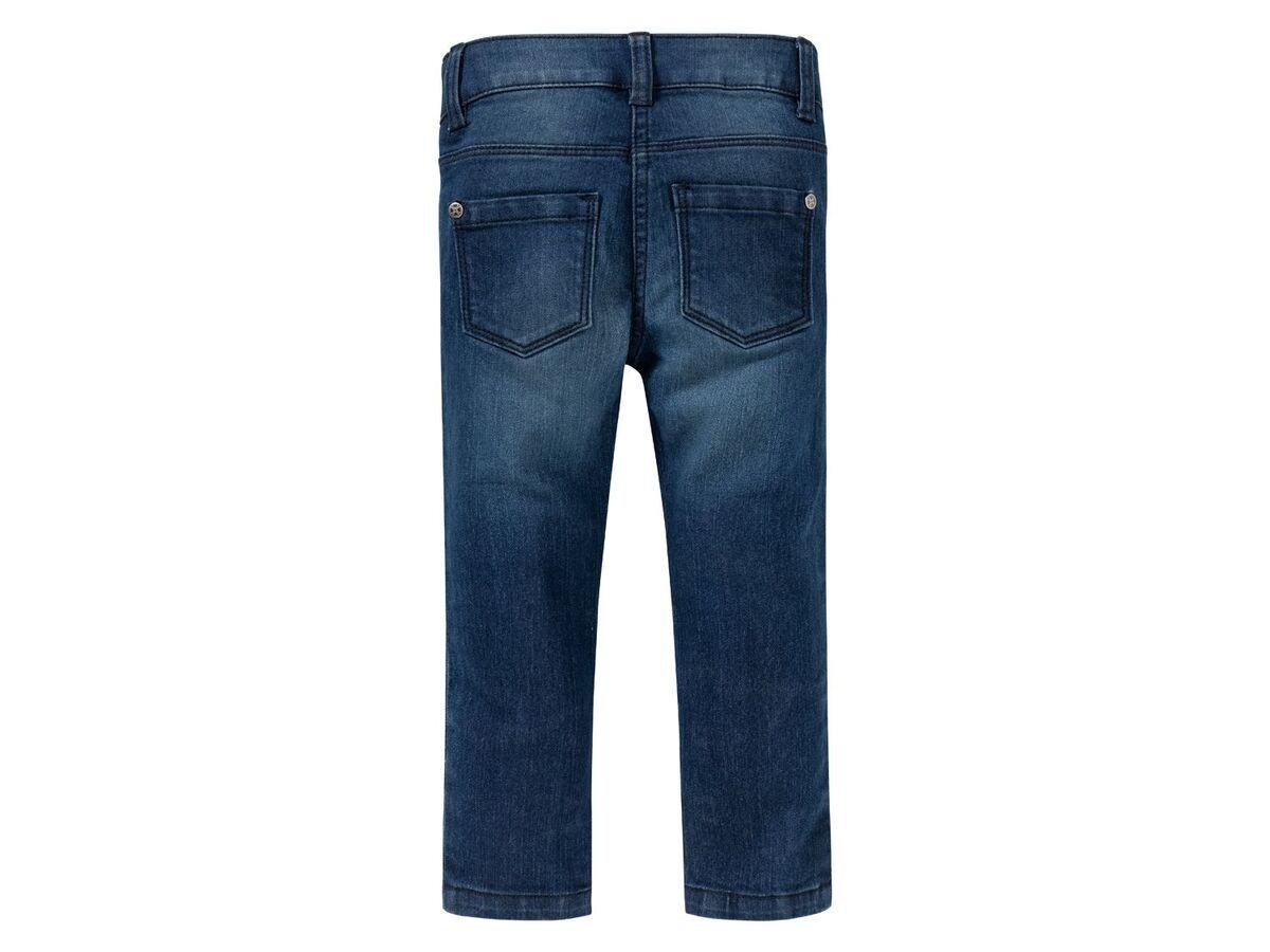 Bild 4 von LUPILU®  Kleinkinder Jeans Mädchen, schmaler Schnitt, mit Glitzerstreifen oder Pailletten