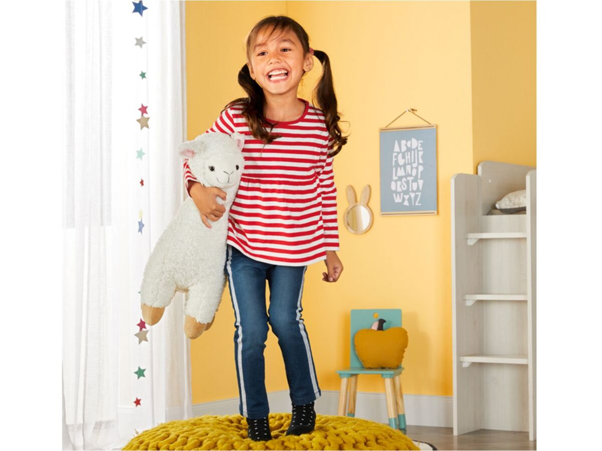 Bild 5 von LUPILU®  Kleinkinder Jeans Mädchen, schmaler Schnitt, mit Glitzerstreifen oder Pailletten