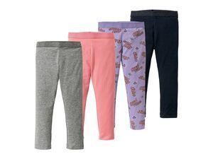 LUPILU® Leggings Mädchen, Kleinkinder, 4 Stück, mit elastischem Glitzerbündchen