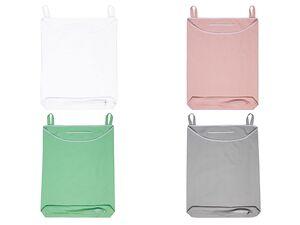 AQUAPUR® Über-Tür Wäschesammler, mit passenden Metallhaken, unterseitiger Reißverschluss