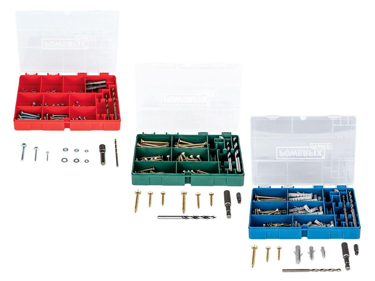 Bild 1 von POWERFIX® Bohrer-, Schrauben- und Dübel-Set 96 tlg.