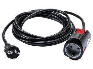 POWERFIX® Steckdosenverlängerung, mit Gürtelclip und Magnet, 4 m Kabellänge