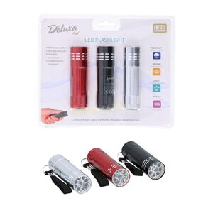 Mini-Taschenlampen mit 9 LEDs 3er-Set