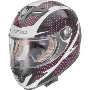 Nexo            Integralhelm City Damen weiß/pink #20 Dekor