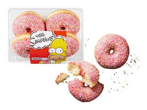 The Simpsons Pink-Donuts mit Zuckerstreuseln