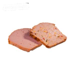 Deutscher Fleischkäse gebacken