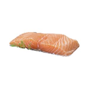 Frisches Lachsfilet mit Haut