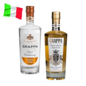 Grappa Invecchiate Superiore oder Grappa Pinot Chardonnay