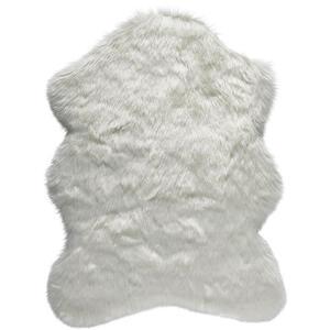 KUNSTFELL 80/110 cm Weiß