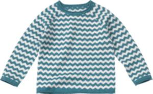 ALANA Kinder Pullover, Gr. 98, in Bio-Baumwolle, weiß, blau