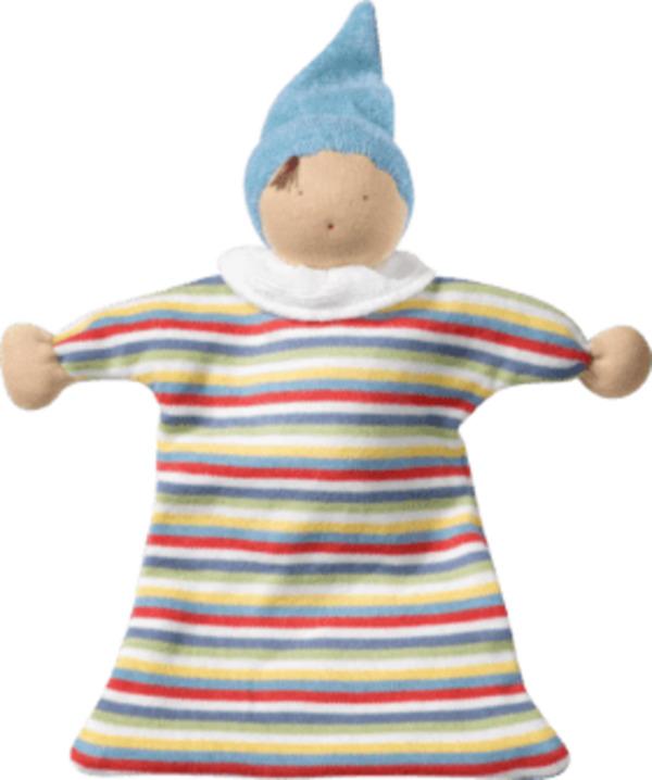 ALANA Baby Puppe, in Bio-Baumwolle, weiß, bunt, für Mädchen und Jungen