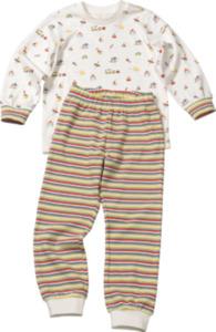 ALANA Kinder Schlafanzug, Gr. 92, in Bio-Baumwolle, weiß, bunt, für Mädchen und Jungen