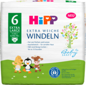 Hipp Babysanft Windeln Gr. 6 Extra Large, +15 kg