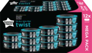 Tommee Tippee Nachfüllkassetten für Twist & Click Und Sangenic Tec Windeleimer