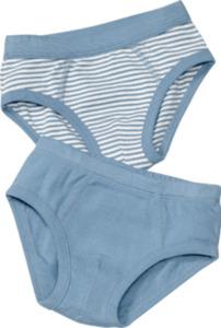ALANA Doppelpack Kinder Slips, Gr. 98, in Bio-Baumwolle, blau, weiß