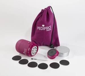 Elektrischer Hornhautentferner, Pediküre-Gerät PEDIPRO Deluxe, Pink,12-teilig