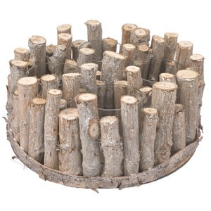Holzkranz mit 4 Windlichtern