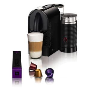 DeLonghi Nespresso-Automat Umilk EN 210.BAE mit Aeroccino-Milchaufschäumer, schwarz
