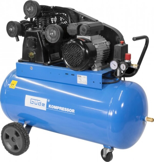 Güde Kompressor 550/10/100 230 V, 2.200 W, Kesselinhalt 100 l