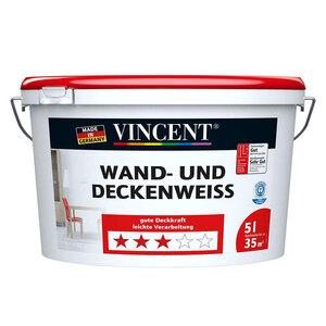 Vincent              Wand-⁄Deckenweiß, 5 l         5