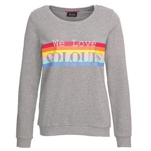Damen Sweatshirt mit Regenbogen-Print