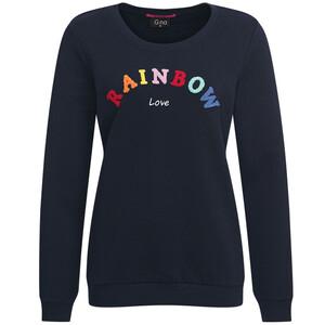 Damen Sweatshirt mit Frottee-Applikation