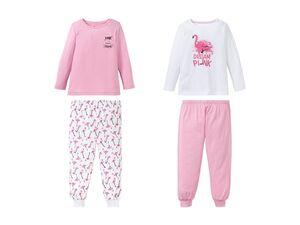 LUPILU® Mädchen Schlafanzug, 2 Stück, aus reiner Baumwolle