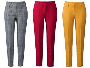 ESMARA® Business Jogger Damen, Stoffhose, mit Bügelfalte, seitliche Eingrifftaschen