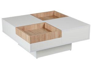 Reality Couchtisch Antwerpen  Weiss / Sonoma quadratisch  melaminbeschichtete Spanplatte