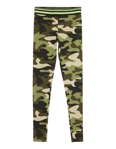 Mädchen Leggings mit Camouflage-Muster