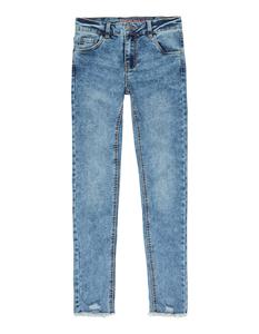 Mädchen Skinny Fit  Jeans mit ausgefransten Abschlüssen