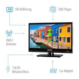 MEDION LIFE® E11682 TV, 39,6 cm (15,6'') LED-Backlight, HD Triple Tuner, integrierter DVD-Player, Car-Adapter, CI+