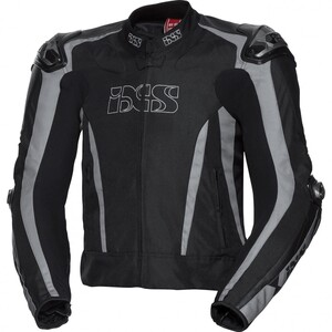 IXS            Sport Leder-/Textiljacke RS-1000 schwarz/grau