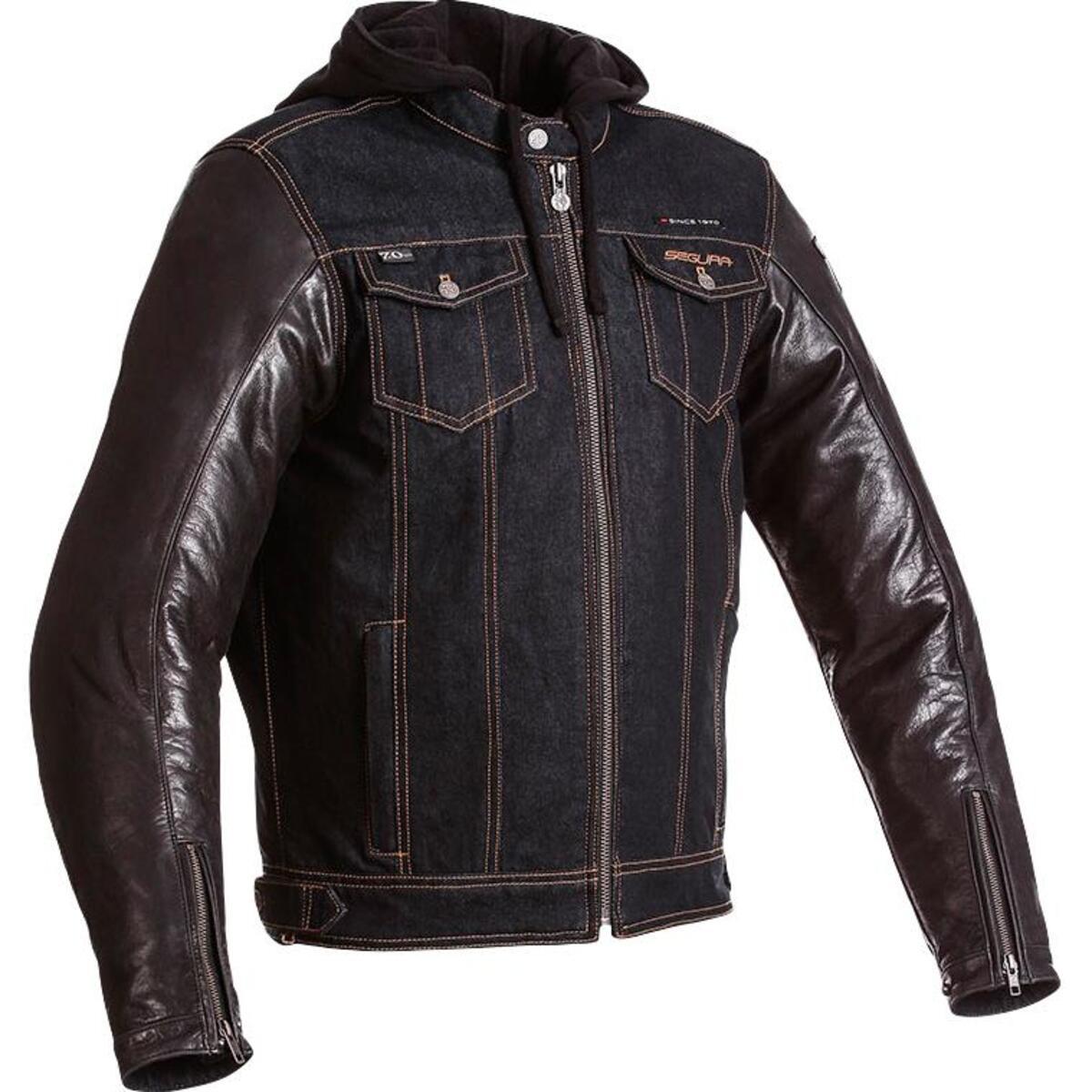 Bild 2 von Segura Veloce Leder-/Textiljacke blau Herren Größe L