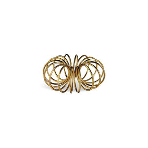 Kerzenhalter für Stabkerzen Circle, Metall, D:8cm, gold
